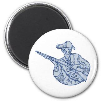 American Patriot Minuteman Rifle Mono Line Magnet