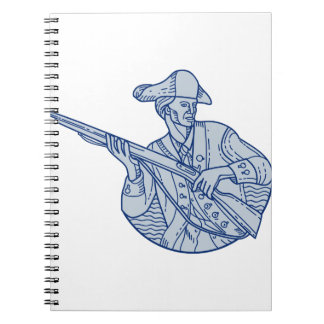 American Patriot Minuteman Rifle Mono Line Spiral Notebook