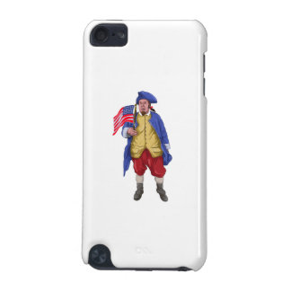 American Patriot Shouting Holding Flag Watercolor iPod Touch (5th Generation) Cases