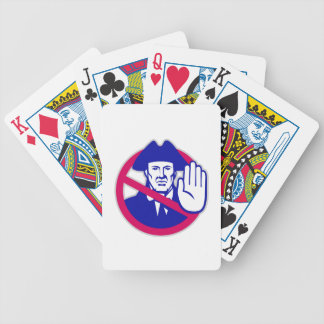 American Patriot Stop Sign Retro Bicycle Playing Cards