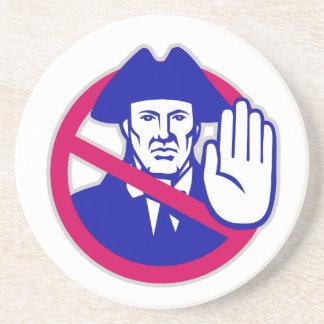 American Patriot Stop Sign Retro Coaster
