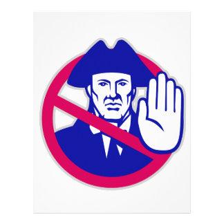 American Patriot Stop Sign Retro Letterhead