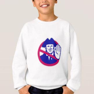 American Patriot Stop Sign Retro Sweatshirt