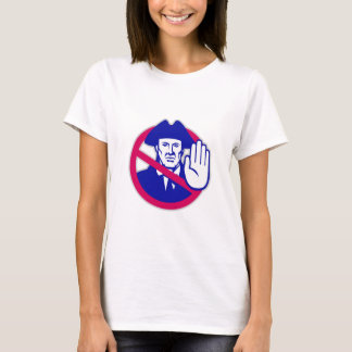 American Patriot Stop Sign Retro T-Shirt