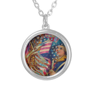 AMERICAN PATRIOT ~ UNAPOLOGETIC SILVER PLATED NECKLACE
