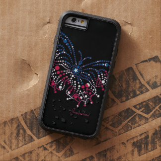 American Patriotic Dots Butterfly Tough Xtreme iPhone 6 Case