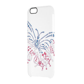 American Patriotic Dots Butterfly Uncommon Clearly™ Deflector iPhone 6 Case