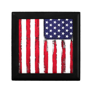 American Patriotic Grunge flag Jewelry Box