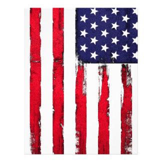 American Patriotic Grunge flag Letterhead