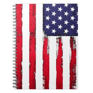 American Patriotic Grunge flag Notebooks