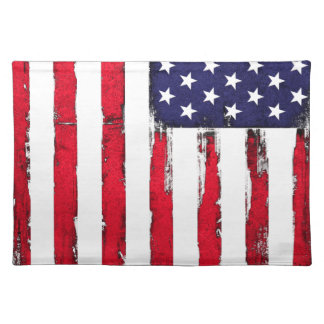 American Patriotic Grunge flag Placemat