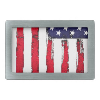 American Patriotic Grunge flag Rectangular Belt Buckles