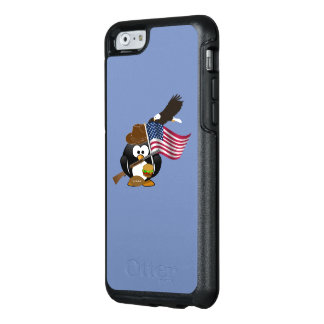 American Patriotic Penguin Design with Flag OtterBox iPhone 6/6s Case