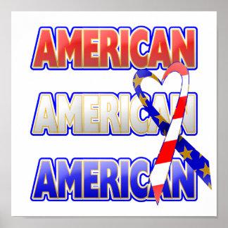 American Patriotic Ribbon Poster