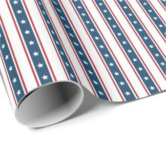 American Patriotic Stars and Stripes Pattern