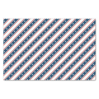 American Patriotic Stars and Stripes Pattern Tissue Paper