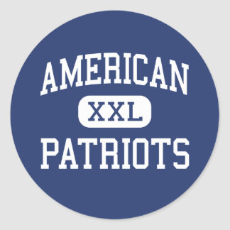 American - Patriots - High School - Miami Florida Classic Round Sticker
