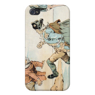 American Patriots kicking out the British Cover For iPhone 4
