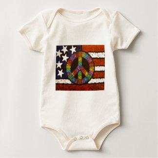 American Peace Baby Bodysuit