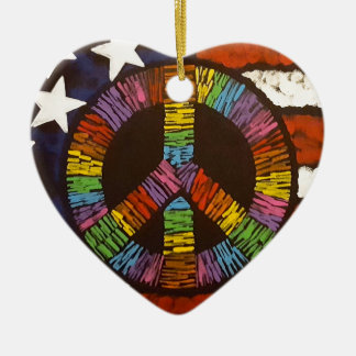 American Peace Ceramic Ornament
