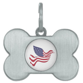 AMERICAN PEACE DOVE PET TAG