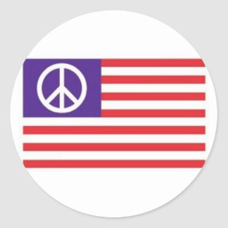 American Peace Flag Round Sticker