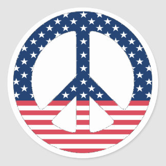 American Peace Sign Sticker