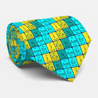 American periodic table patriotic tie
