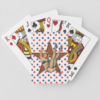 American pinup star playing cards