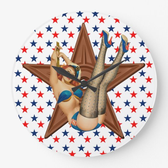 American pinup star wallclock