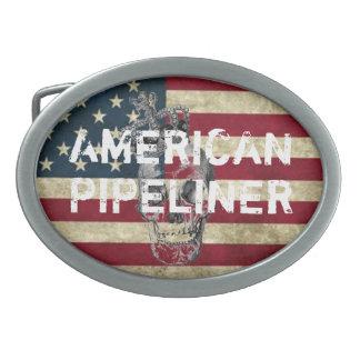 AMERICAN PIPELINER BUCKLE OVAL BELT BUCKLE