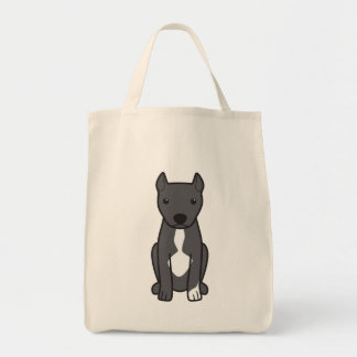 American Pit Bull Terrier (Cropped Ears) Tote Bag
