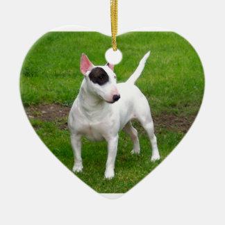American Pit Bull Terrier Dog Ceramic Heart Ornament