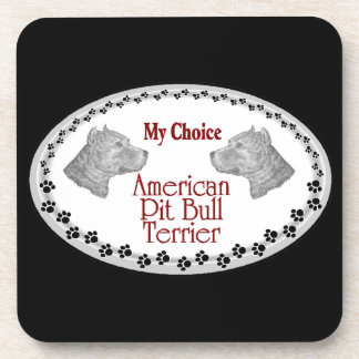 American Pit Bull Terrier Dog Drink Coasters