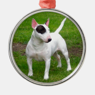 American Pit Bull Terrier Dog Silver-Colored Round Ornament