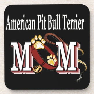 american pit bull terrier mom coaster