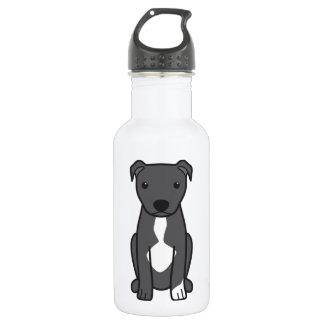 American Pit Bull Terrier (Natural Ears) 532 Ml Water Bottle