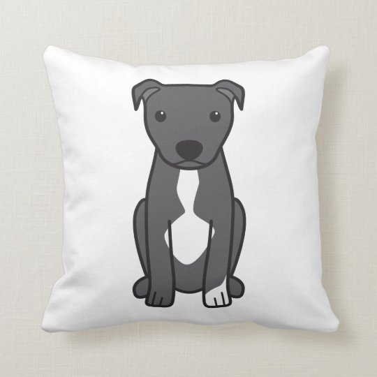 American Pit Bull Terrier (Natural Ears) Throw Pillow