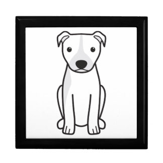 American Pit Bull Terrier (Natural Ears) Trinket Boxes