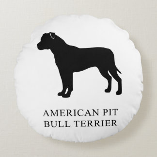 American Pit Bull Terrier Round Pillow