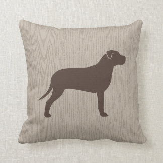 American Pit Bull Terrier Silhouette Throw Pillow