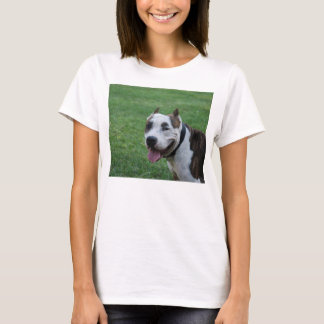 american pit bull terrier smiling T-Shirt