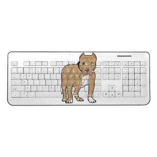 American Pit Bull Terrier Wireless Keyboard