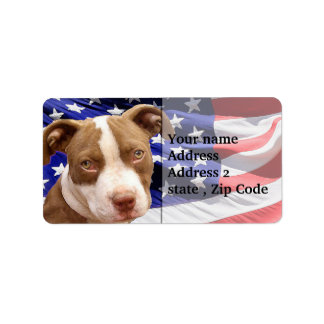 American Pitbull puppy Label