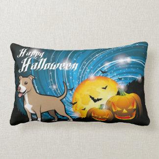 American Pitbull Terrier Happy Halloween Lumbar Pillow