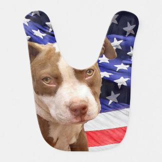 American Pitbull Terrier pup Baby Bibs
