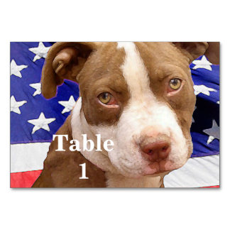 American Pitbull Terrier pup Table Card