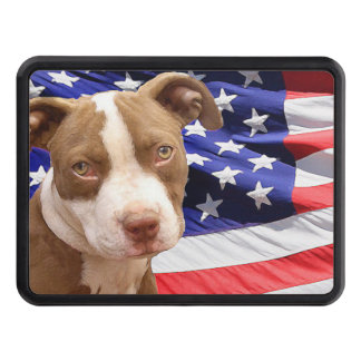 American Pitbull Terrier pup Trailer Hitch Cover