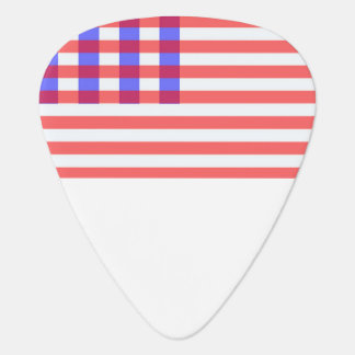 american plaid flag guitar pick