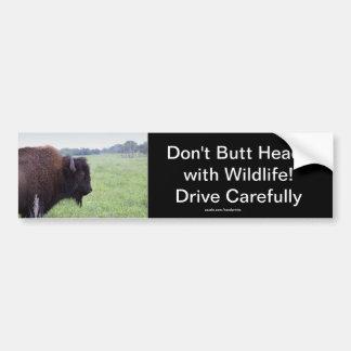 American Plains Buffalo Bison Bumper Sticker